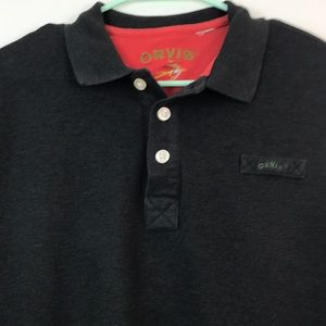 Orvis mens heavy weight polo size XL ? long sleeve